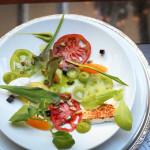 Kitsejuust Heirloom tomati ja veiniäädika želeega