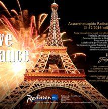 Aastavahetuspidu Vive la France Radisson Blu Hotel Olümpias